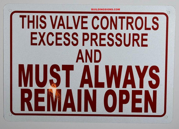 SIGNS This Valve Controls Excess Pressure and