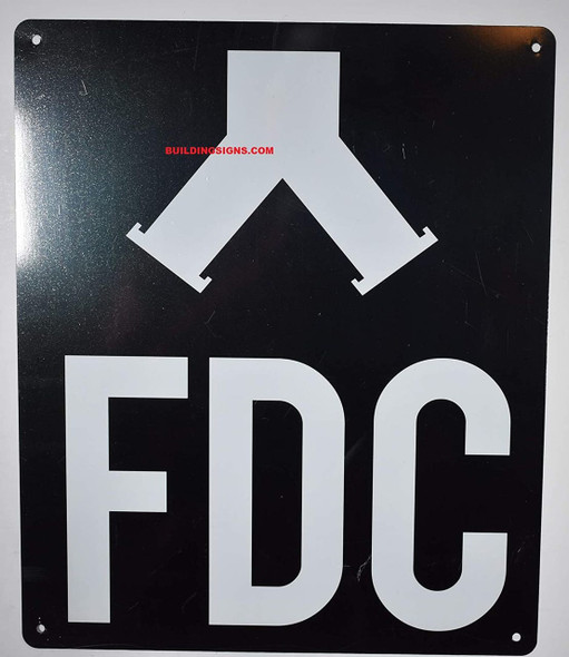 FDC Sign with Symbol Sign (Black,