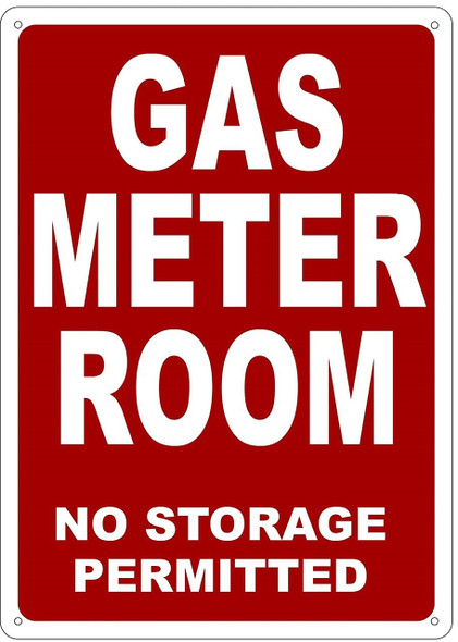 GAS METER ROOM SIGN (RED 14X10