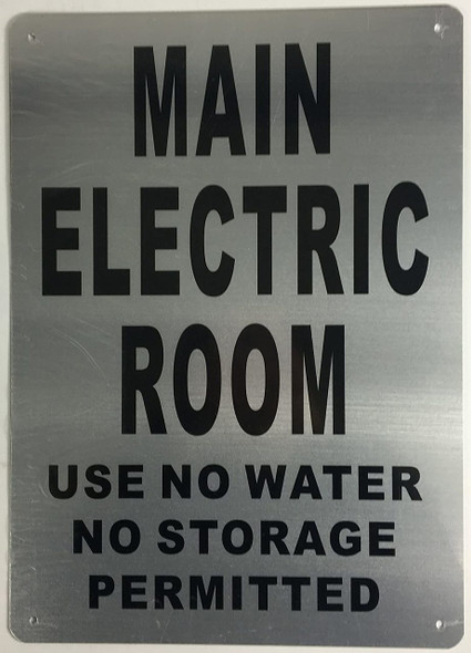 SIGNS Main Electric Room Sign (10x14, Rust