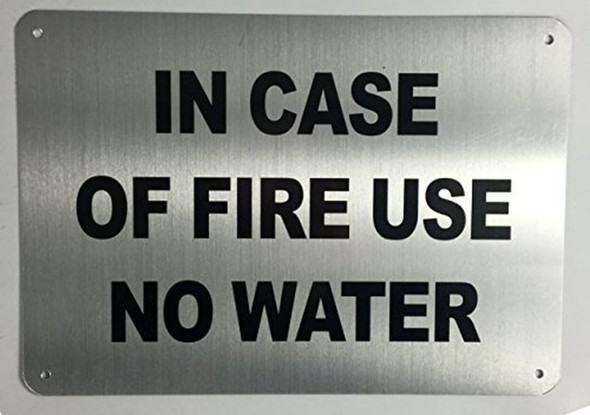 SIGNS in CASE of FIRE - USE