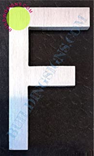SIGNS Aluminum Letter F Sign (Brush Silver,Double