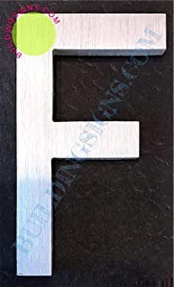 Aluminum Letter F Sign (Brush Silver,Double