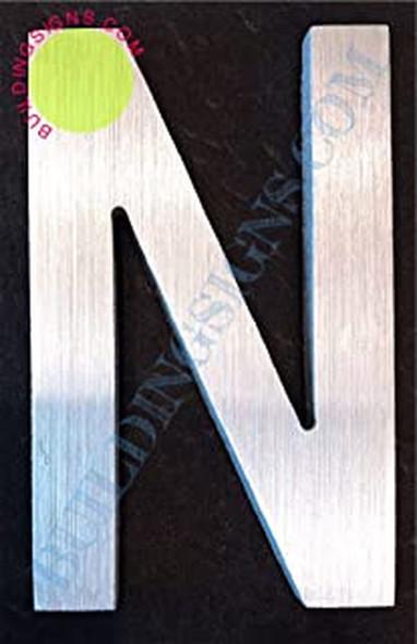 Aluminum Letter N Sign (Brush Silver,Double