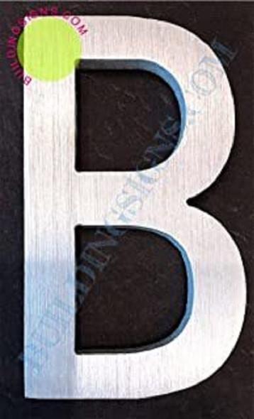 Aluminum Letter B Sign (Brush Silver,Double