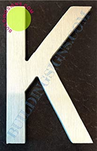 Aluminum Letter K Sign (Brush Silver,Double