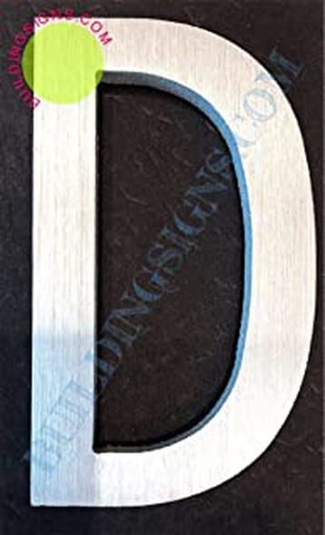 Aluminum Letter D Sign (Brush Silver,Double