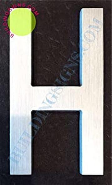 Aluminum Letter H Sign (Brush Silver,Double