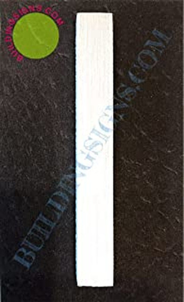Aluminum Letter I Sign (Brush Silver,Double