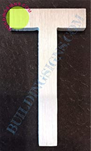 Aluminum Letter T Sign (Brush Silver,Double