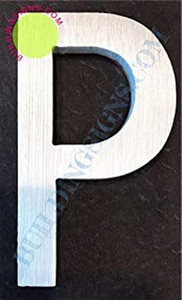 Aluminum Letter P Sign (BrushSilver,Double Sided