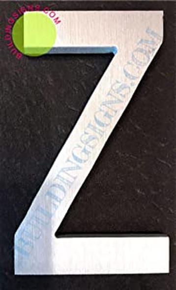 Aluminum Letter Z Sign (Brush Silver,Double