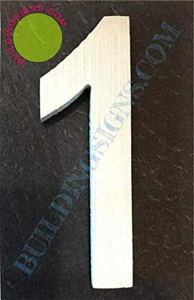 Aluminum Number 1 Sign (Brush Silver,Double