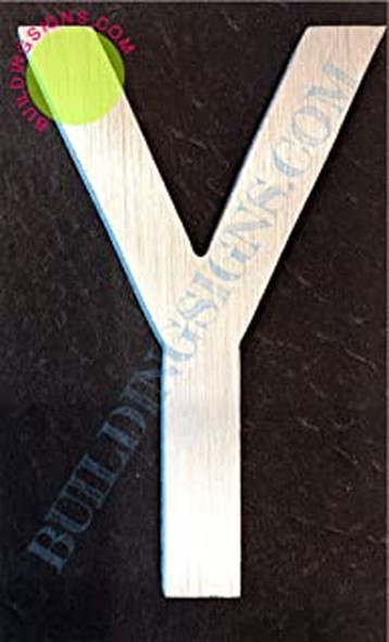SIGNS Aluminum Letter Y Sign (Brush Silver,Double