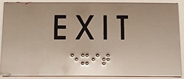 SIGNS EXIT Sign -Tactile Signs BRAILLE-STAINLESS