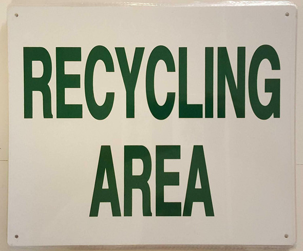 SIGNS RECYCLING AREA SIGN (ALUMINUM SIGNS 10X12,