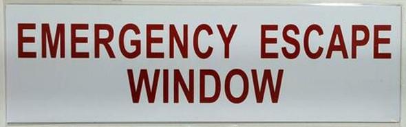SIGNS EMERGENCY ESCAPE WINDOW SIGN ( WHITE,Aluminium