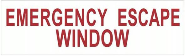 EMERGENCY ESCAPE WINDOW SIGN ( WHITE,Aluminium