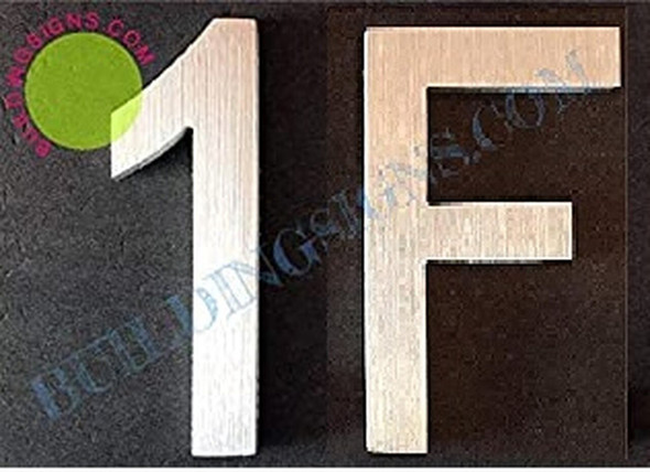 SIGNS Apartment Number 1f Sign (Brush Silver,Double