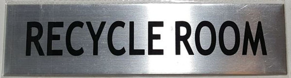 SIGNS RECYCLE ROOM SIGN – BRUSHED ALUMINUM
