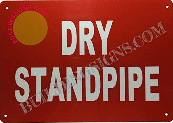 SIGNS Dry Standpipe Sign (Aluminium, Reflective, RED