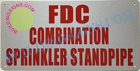 FDC Combination Sprinkler Standpipe Sign (Aluminium