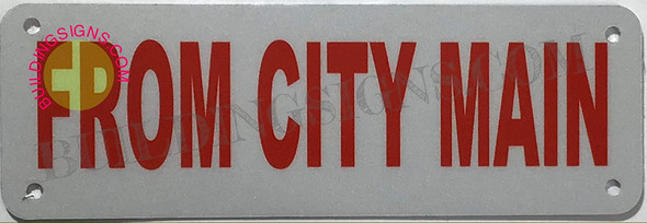 from City Main Sign (White, Reflective