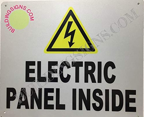 Electrical Panels Inside Sign (Reflective !!,