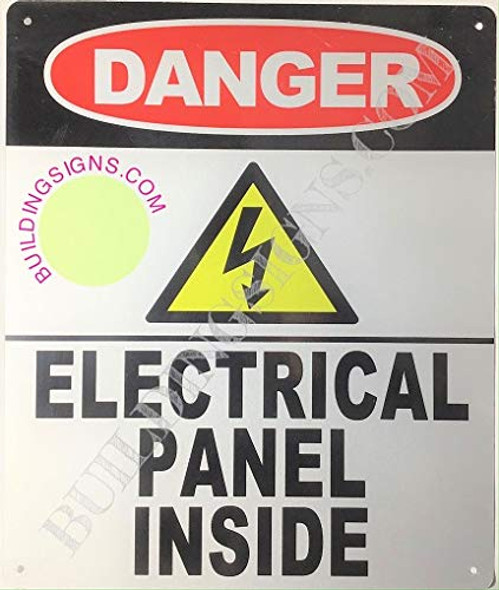 SIGNS Danger- Electric Panel Inside Sign (Reflective