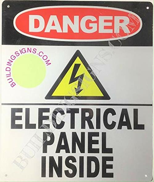 Danger- Electric Panel Inside Sign (Reflective