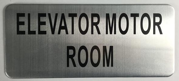 ELEVATOR MOTOR ROOM SIGN (BRUSH ALUMINIUM,