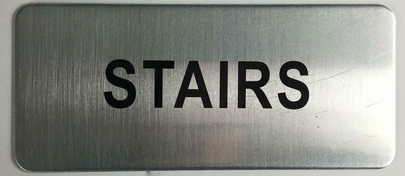 ELEVATOR ROOM SIGN (BRUSH ALUMINIUM, 3.5X8