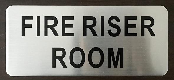 SIGNS FIRE RISER ROOM SIGN (BRUSH ALUMINIUM,