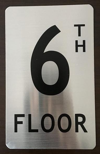 SIGNS 6TH Floor Sign (Brush Aluminium, 5X8)-The