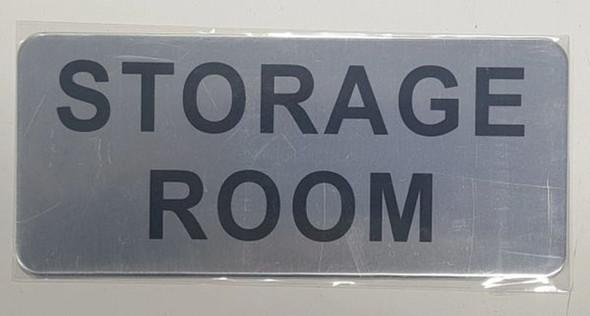 STORAGE ROOM SIGN - BRUSHED ALUMINUM