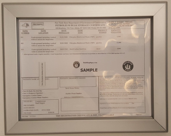 SIGNS Storage Certificate Frame 8.5 x 11