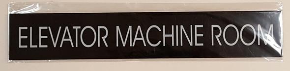 SIGNS ELEVATOR MACHINE ROOM SIGN (BLACK ALUMINUM