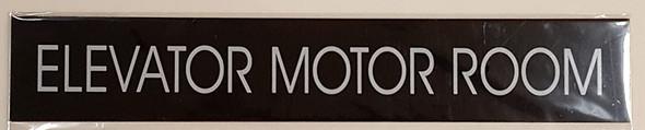 SIGNS ELEVATOR MOTOR ROOM SIGN (BLACK)-(ref062020)