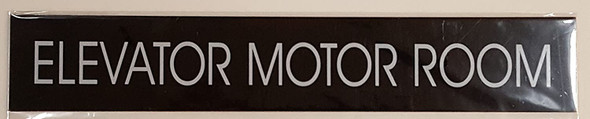 ELEVATOR MOTOR ROOM SIGN (BLACK)-(ref062020)