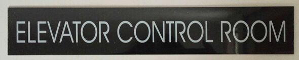 ELEVATOR CONTROL ROOM SIGN (BLACK ALUMINUM