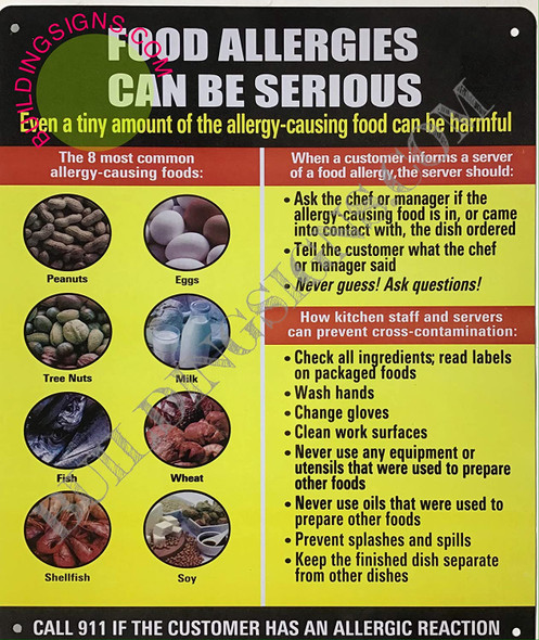 SIGNS Food Allergies CAN BE SERIOUS Sign