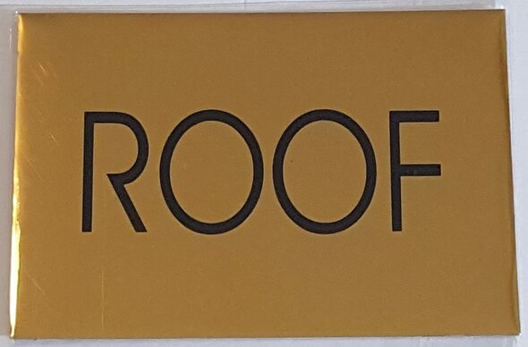 SIGNS ROOF SIGN - Gold BACKGROUND (ALUMINIUM