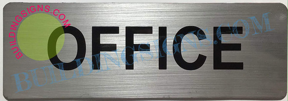SIGNS 2 Set of Office Sign (Brushed