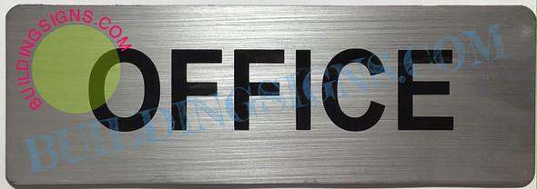 2 Set of Office Sign (Brushed