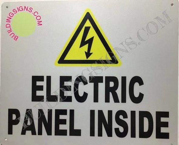 SIGNS Danger Electrical Panel Inside Sign (Brush