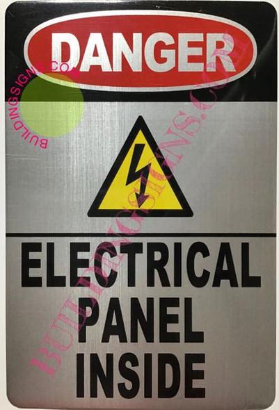 Danger Electrical Panel Inside Sign (Brush