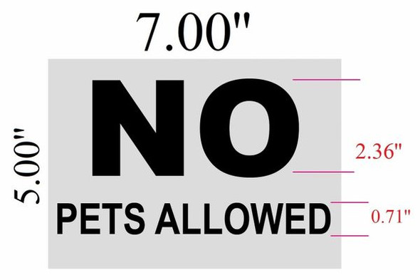 SIGNS NO PETS ALLOWED sign ( white