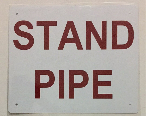 SIGNS STAND PIPE SIGN ( ALUMINIUM 10x12