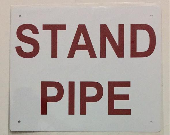 STAND PIPE SIGN ( ALUMINIUM 10x12