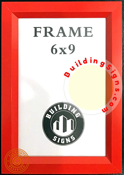 SIGNS RED Elevator Inspection Certificate Frame 6